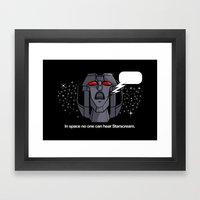 Space Scream Framed Art Print