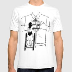 Read all about you Mens Fitted Tee White SMALL