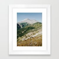 Mt St Helens Framed Art Print