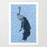Peacock - Paper Art Art Print