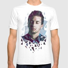 Tyler Joseph Low Poly Portrait Mens Fitted Tee White SMALL