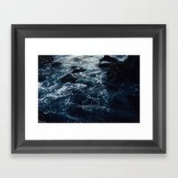 Salt Water Study Framed Art Print