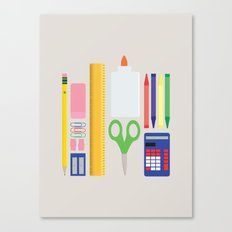 School House Colored Canvas Print