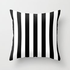 Vertical Stripes (Black/White) Throw Pillow
