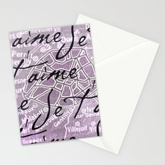 Je t'aime, Paris! Stationery Cards