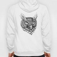Ornate Owl Head Hoody