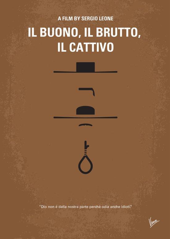 No042 My Il buono il brutto il cattivo minimal movie poster Art Print
