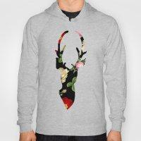 Flower Deer Silhouette Hoody