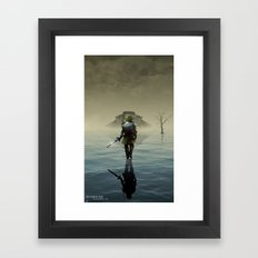 The hardest battle lies within Framed Art Print