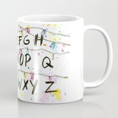 Stranger Things Alphabet Christmas Lights  Mug