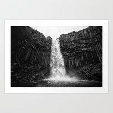 Svartifoss Waterfall Ice… Art Print