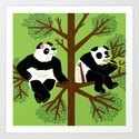 The Peeved Panda Art Print