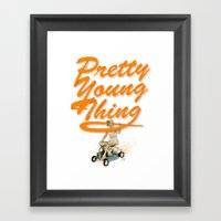 P.Y.T Framed Art Print