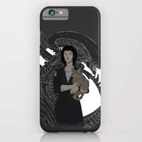 alien iPhone & iPod Cases featuring Alien by Vaahlkult