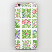 Tudor Flower Parterre iPhone & iPod Skin