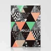 GEOMETRIC - you are what you repeatedly do Stationery Cards