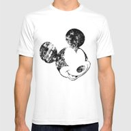 Mickey Grunge Mens Fitted Tee White SMALL