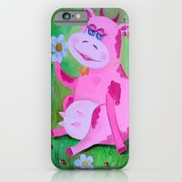 cow iPhone & iPod Cases featuring Cow by OLHADAR