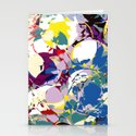 circle color fractures Stationery Cards
