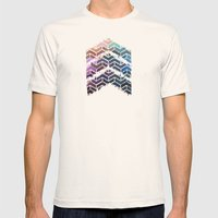 Chevron iKat Mens Fitted Tee Natural SMALL