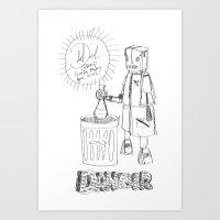 Art Print featuring Danger. [SKETCH] by David Nuh Omar