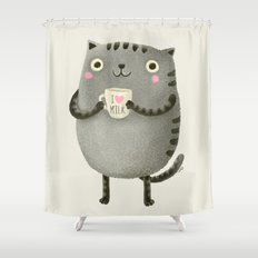 I♥milk Shower Curtain