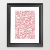 Charming Pink Framed Art Print
