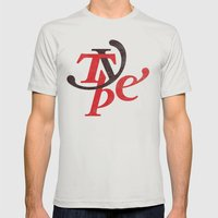 Type Mens Fitted Tee Silver SMALL