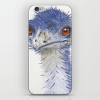 emu watercolour iPhone & iPod Skin