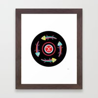 Circles of Gators Framed Art Print