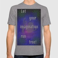 Let It Run! Mens Fitted Tee Athletic Grey SMALL