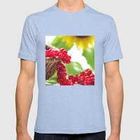 Red summer fruits image Mens Fitted Tee Tri-Blue SMALL