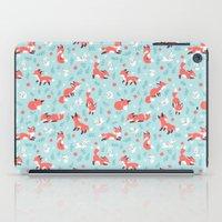 Fox and Bunny Pattern iPad Case