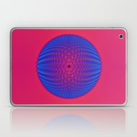 Blue Sphere On Pink Laptop & iPad Skin