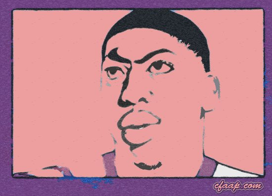 Anthony Davis Nike Swoosh Unibrow Red Canvas Print