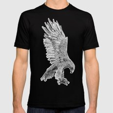 Eagle  SMALL Mens Fitted Tee Black