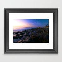 Sunset In La Jolla Framed Art Print