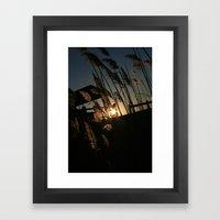 Sunset in the Fall Framed Art Print