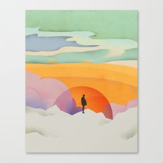 I Like to Watch the Sun Come Up - (White Version) Canvas Print