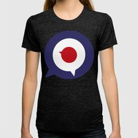 Mod thoughts Womens Fitted Tee Tri-Black SMALL
