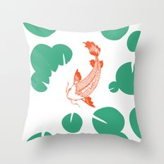 Koi Throw Pillow