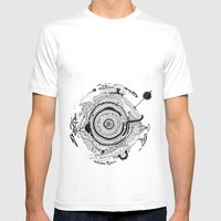Little Planet Mens Fitted Tee White SMALL