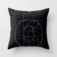 Die Neue Haas Grotesk (B-03) Throw Pillow