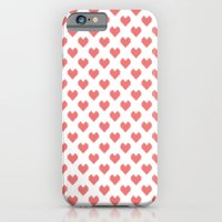 Pixel Hearts iPhone 6 Slim Case