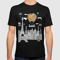 Adventure Days Paris Mens Fitted Tee Tri-Black SMALL