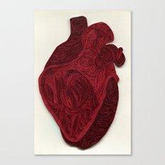 paper filigree human heart Canvas Print