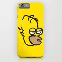 iPhone & iPod Case featuring Hard Night Homer by Fyza Hashim