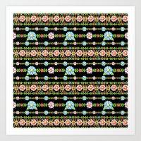 Millefiori Boho Chic Stripe Art Print