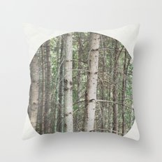 robert frost's birch trees Throw Pillow