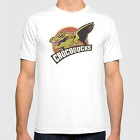 Crocoducks Mens Fitted Tee White SMALL